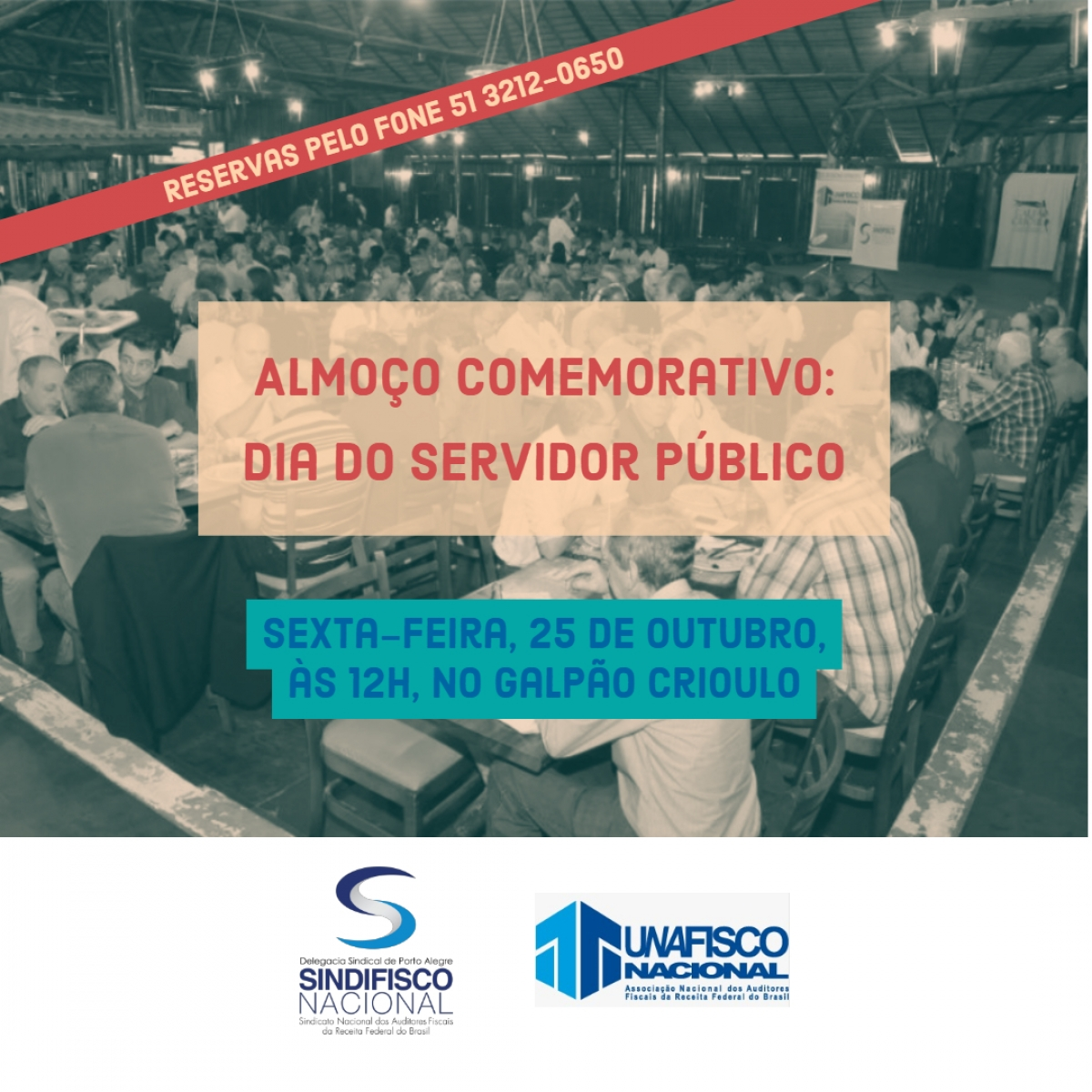 Participe do Almoço do Dia do Servidor dia 25
